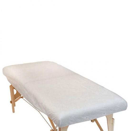 Еднократни чаршафи за масажно легло с ластик - 10 броя