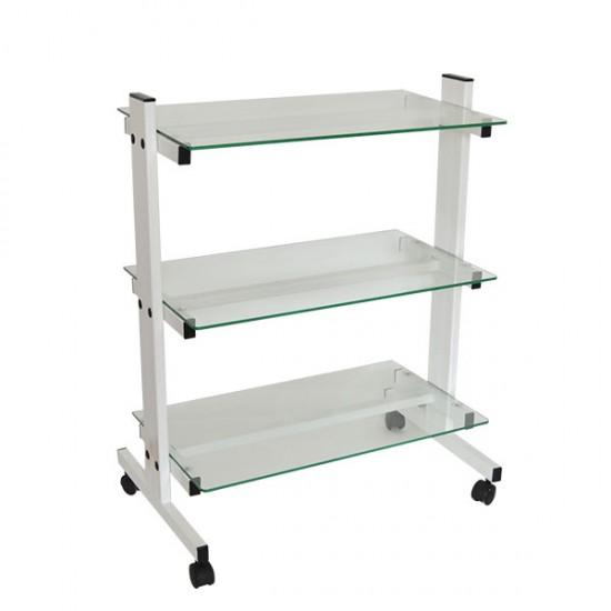 Козметична количка със стъклени лавици КК001
