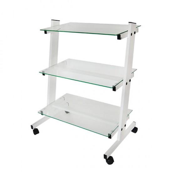 Наклонена количка със стъклени лавици КК002