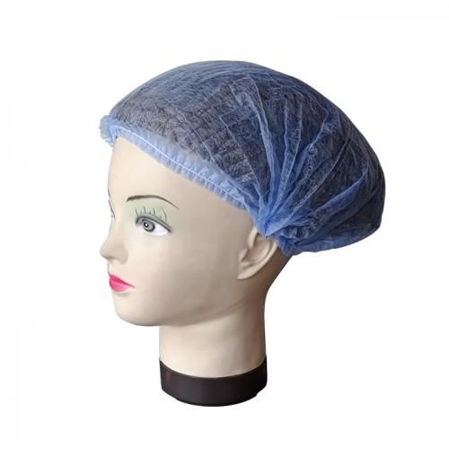 Текстилно еднократно боне в син цвят, универсален размер – 100бр.