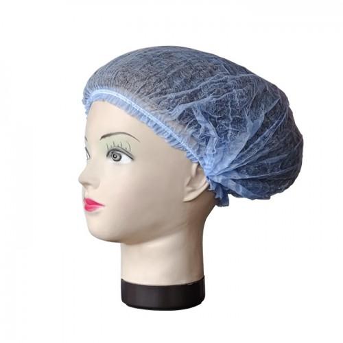 Текстилно еднократно боне в син цвят, 52 см – 100бр.
