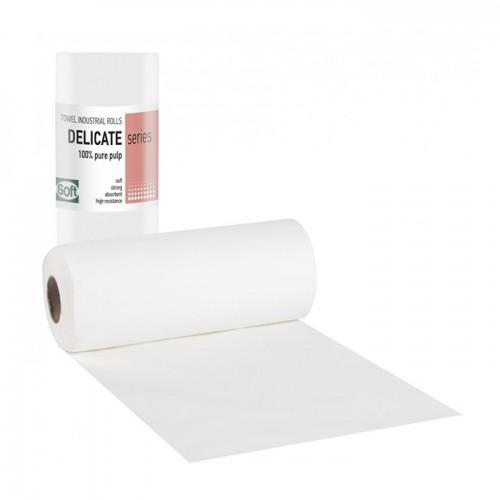 Еднократни двупластови хартиени кърпи на ролка Softcare