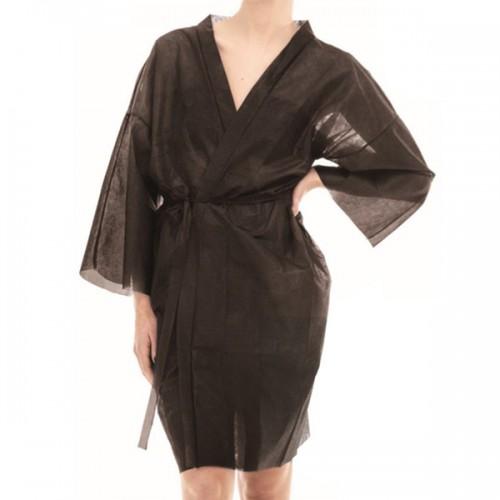 Кимоно за еднократна употреба в черен цвят