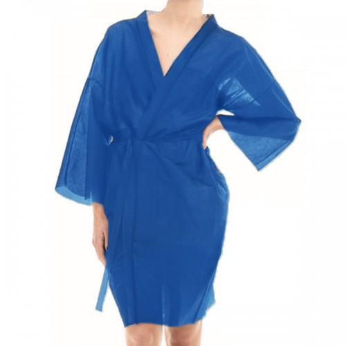 Кимоно за еднократна употреба в син цвят