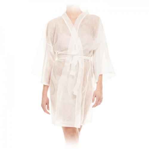 Кимоно за еднократна употреба в бял цвят