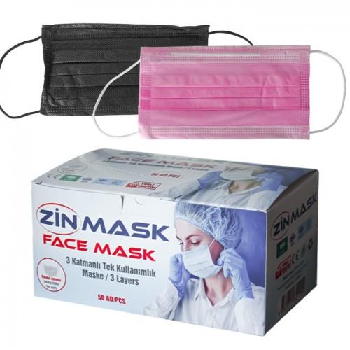 Трислойни медицински маски за еднократна употреба Zin mask, 50 броя