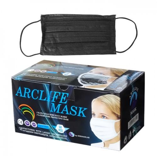 Трислойни медицински маски за еднократна употреба Arclife mask, 50 броя