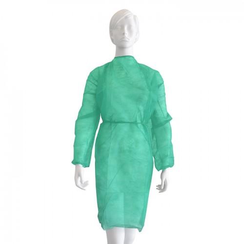 Медицинска престилка с ръкави Softcare, Унисекс, Универсален размер - Зелена