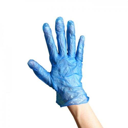 Винилови ръкавици сини 100 броя