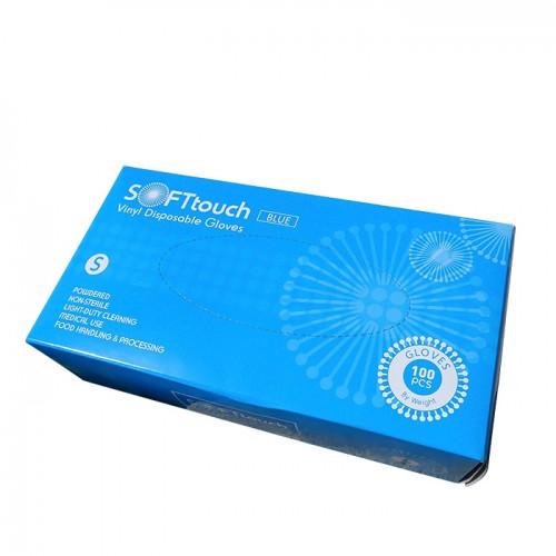 Soft touch предпазни еднократни ръкавици от винил 100 броя