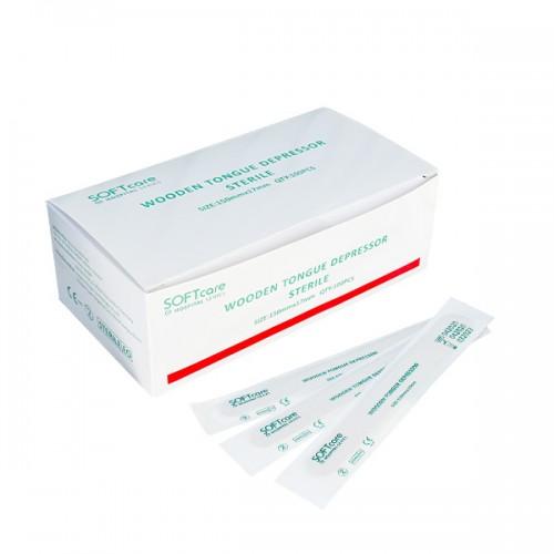 Стерилни шпатули за кола маска – 100 броя в пакет - IS115